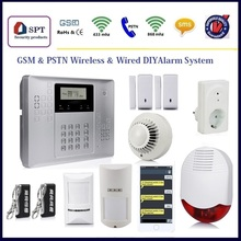 wireless wired gsm alarm system smart accossiors, 433mhz and 868mhz wireless magnetic reed switch