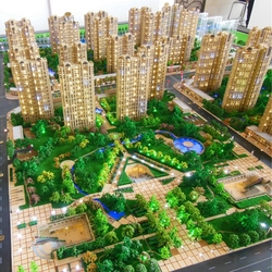 Architectural urban design model , architectural residential building model