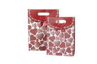 2015 fashion paper gift bag with die cut handles/ kraft paper bag fo food/ kraft paper bag for food with clear window