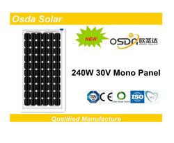 60 pcs sola cell panel 240w