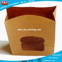 2015 new product full color printing paper bag kraft, kraft paper bag with window, craft paper bag