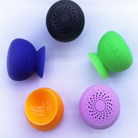colourful Mic Suction Cup mini mushroom speaker