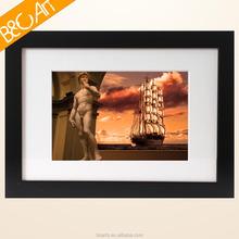 Modern figure sculpture nude oil painting of man