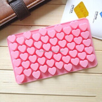 55 holes mini love heart chocolate silicone mould DIY baking decoration mold