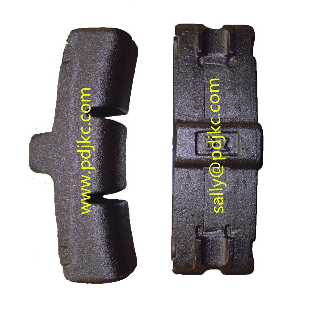 Brake Block Material : Cast iron brake block view