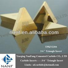 """Tpkn1603 de carburo de tungsteno insertos 1/2"""" p30 triángulo grado recubiertos"""