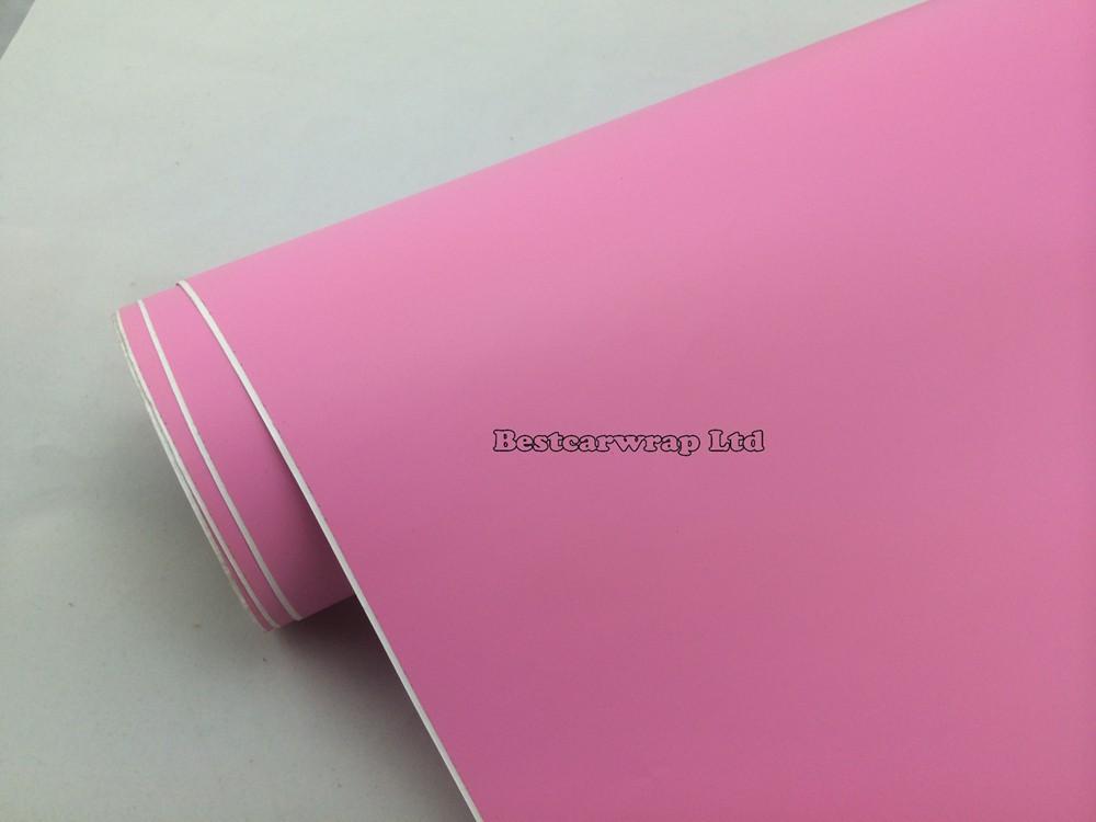 pink matt vinyl car wrapping film matte wrap sheets (1)