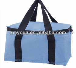 Fashion wholesale polyester fabric Insulated lunch bag cooler bag for picnic