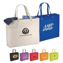 """Non Woven Multi Color The Oak Shopper Tote bag 19"""" X 15.5"""""""
