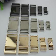 factory gold plated metal belt buckle side release lock metal bag buckle