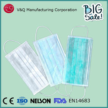 Factory supplier 17.5* 9.5 disposable nonwoven dental products of face mask