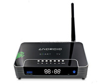 Kodi Smart Android Tv Box, international tv box, andriod 4.4 quad core v20 with led screen
