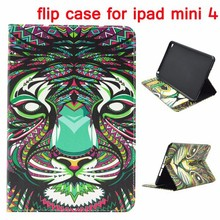 Wholesale Wallet Style Magnetic Stand TPU Leather Flip Case for iPad Mini 4