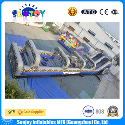 funny and high quality inflatable camouflage obstacle