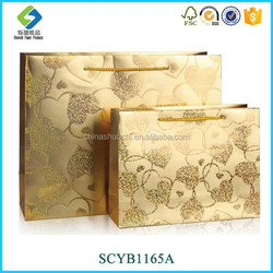 Different Designs and Size, High-end Gift Paper Bag For Heart