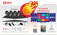2016 New Products H.264 4CH CCTV Security System 3 In1 with Software and Hardware OEM