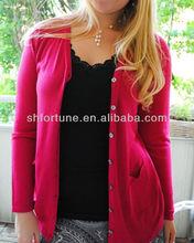 2013 wholesale oversize high fashion Ladies' Knitted Spun Silk Cadigan