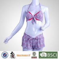 China Fashion Sexy Health Floral Pattern Cute Bikinis