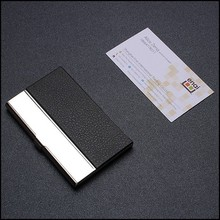 Original Customized Good package tool Leather and metal ID card holder