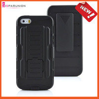 2014 New Products Mobilephone Case For iPhone 5s 5 Hybrid Case With Holster