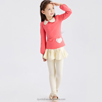 wholesale 2015 autumn brand designs new fashion model long sleeve teen girls t shirts for kis of 4-15 years olds