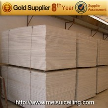 Fire rated best prices gypsum board/wall panel/building material made in factory