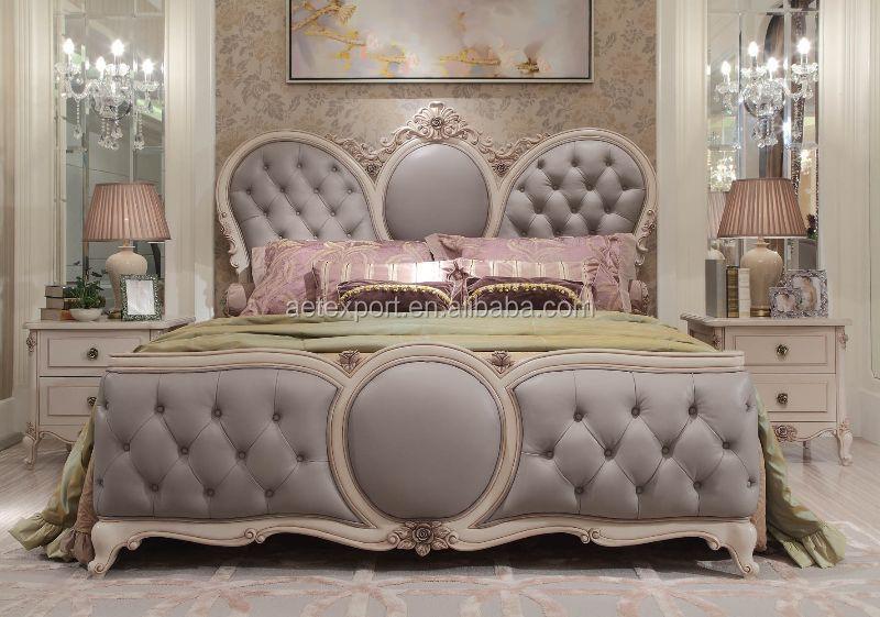 Elegant French Rococo Style Bedroom Furniture Set Wood