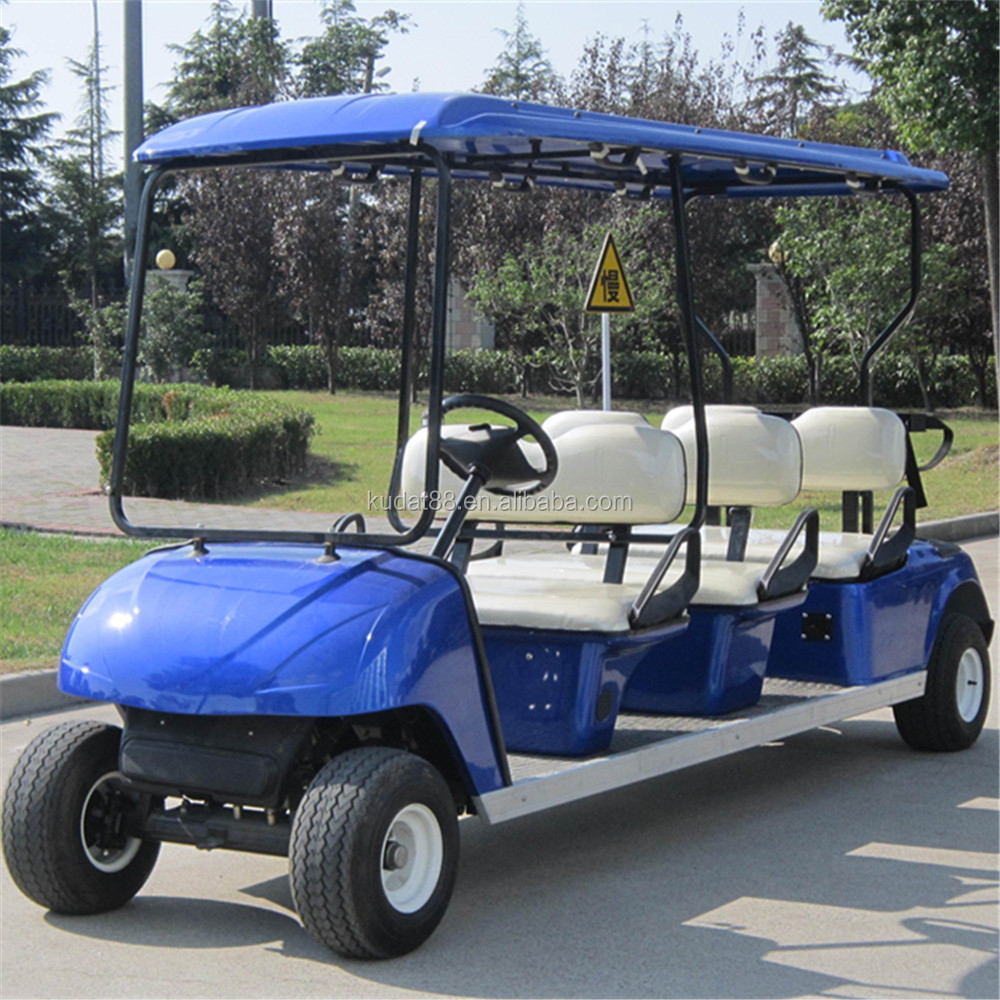 Electric golf cart club car dg c6 6 seats 8v 170ah on for Motorized carts for sale