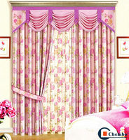 2014 china wholesale ready made curtain red lace curtains