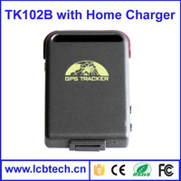 Best price !! Mini GPS tracker TK102B gps sms gprs tracker vehicle tracking system with home charge