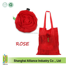 Red rose and various animal shape nylon folding cute bags