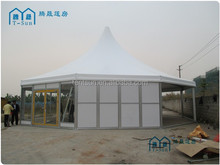 prefab security and reliable large metal frame outdoor glass garden wedding canopy