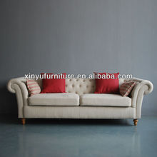 3 seater antique fabric chesterfield sofa XY6001