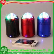 speaker wiht a light flashing