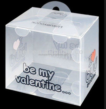 Rectangle gift case clear plastic box for gift, PVC plastic box