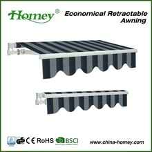 BSCI factory homey outdoor canopy balcony awning design for DIY market