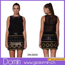 2015 New Design Charming Party Wear Mini Sequin Skirt for Women