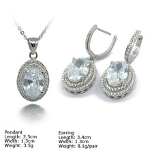 [SZH-1212] 925 Silver Jewelry Set with CZ Stones, Micro Pave Setting, Wedding Jewelry Sets.