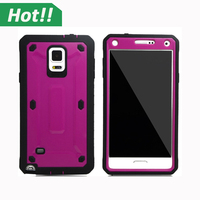 For Galaxy Note 4 Cases Hard Plastic Hybrid Armor Heavy Duty Phones Case For Samsung Galaxy Note 4 Belt Clip Holster Back Cover