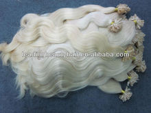 Hot saleTop quality remy Blonde Body Wavy fusion hair