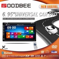 Universal 6.95 inch + car DVD + bluetooth GPS + TV + RC