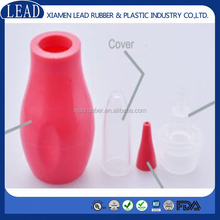 New design red color modeling silicone nasal aspirators