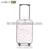 Fresh flower printed fabric luggage
