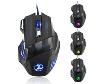 2015 Hot Sale 5500 DPI 7 Buttons Wired LED Optical USB Computer Gaming Mouse Mice For Pro Mouse Gamer