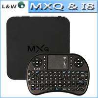 ott tv box mxq 2016 wireless keyboard and mouse android tv box mxq internet tv box