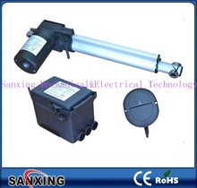 12vdc/24vdc/36vdc/110vdc black motor low noise linear actuator with aluminum alloy block