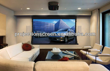 Future brand tab tension projection screen with soft matte white/3D silver screen/soft grey fabric