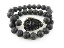 CH-LST0428 Natural persian bracelet lava beaded,lava stone bracelet,fashion gem lava stone bracelet