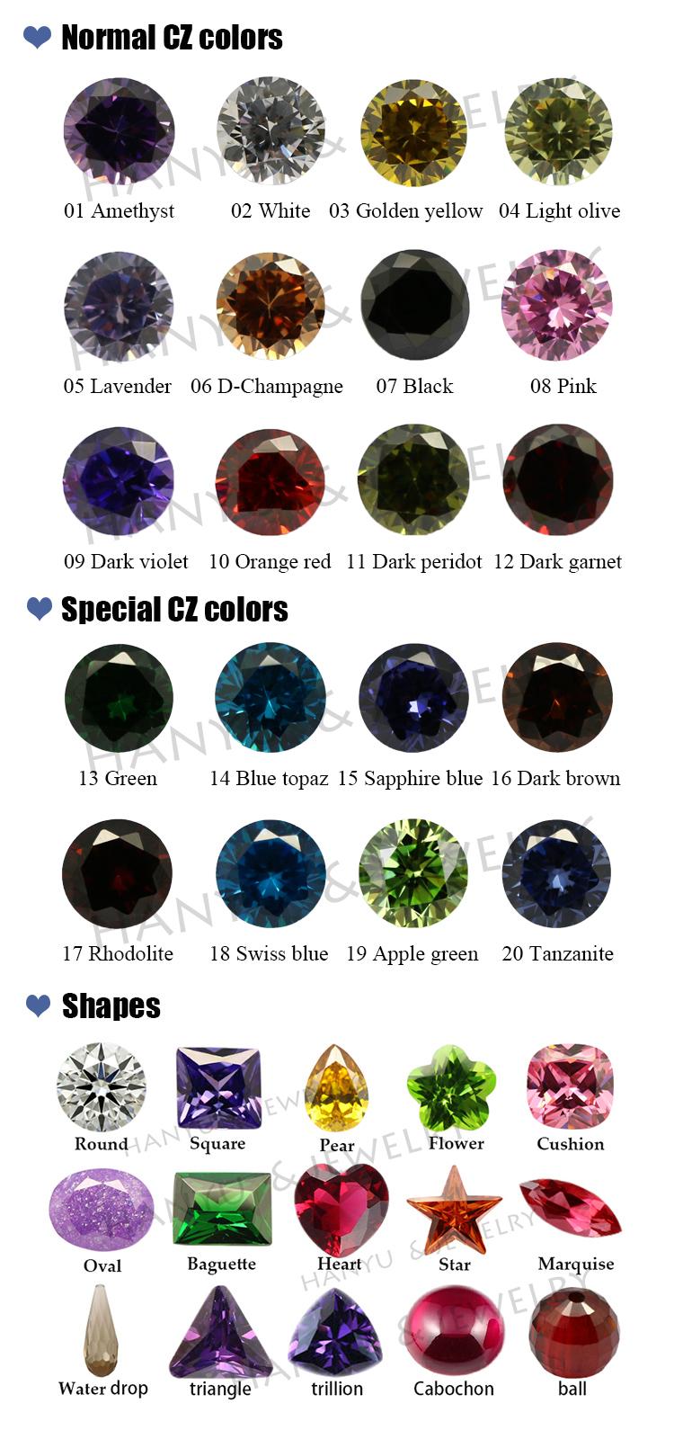 cz color chart