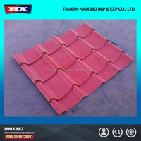 stone chips coated steel tile /building material /metal roofing price